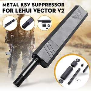 Mock Suppressor Replacement-Accessories Water-Gel-Ball Metal Lehui Vector V2 Black KSV