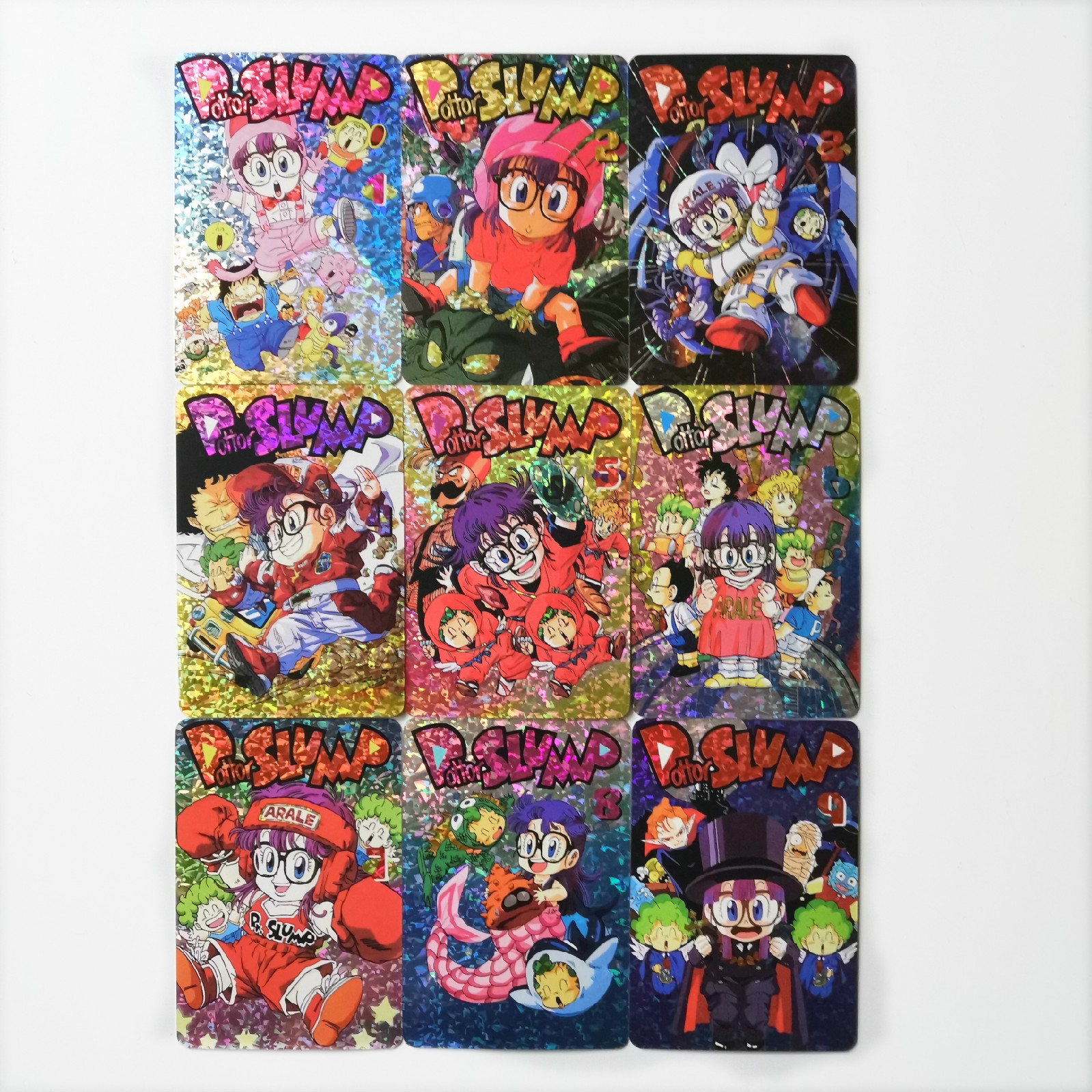 9pcs/set Arale Toys Hobbies Hobby Collectibles Game Collection Anime Cards