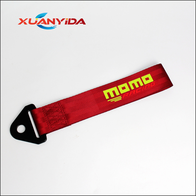 MOMO Towing Rope High Quality Nylon MOMO JDM trailer Tow Ropes Racing Car Universal Tow Eye Strap Tow Strap Bumper Trailer No fa