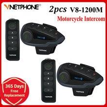 2 pçs 5 pilotos v8 bluetooth intercom capacete nfc motocicleta guiador de controle remoto comunicador capacete fone de ouvido com rádio fm
