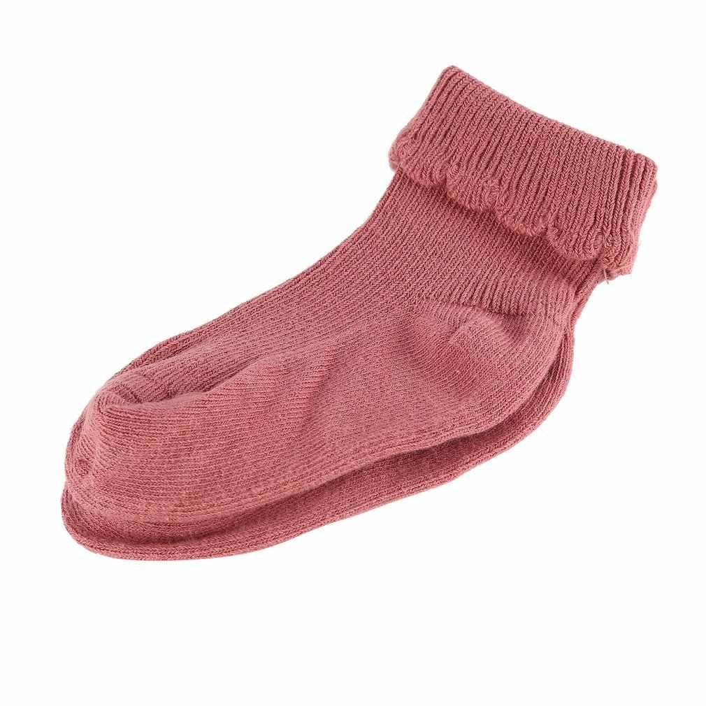120 пара/лот, Детские хлопковые носки для девочек, детские теплые носки в горошек для малышей, Модные Разноцветные носки осень-зима, подарки для детей