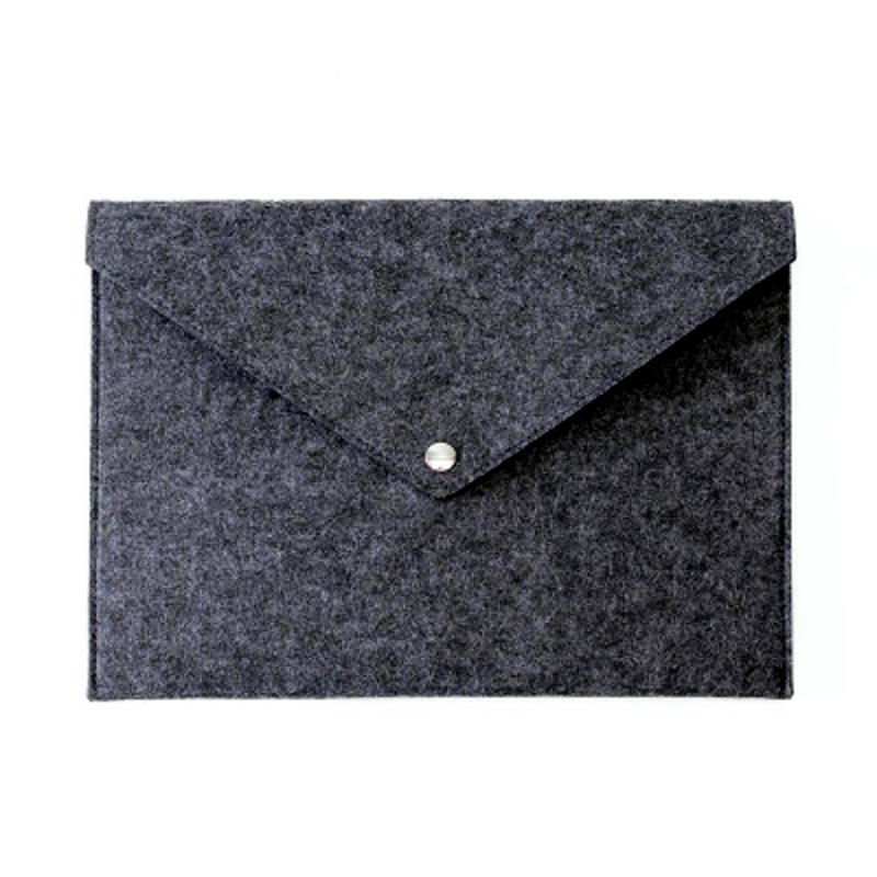 Simple Solid A4 Big Capacity Document Bag Business Briefcase File Folders Felt Filing Bags ING-SHIPPING