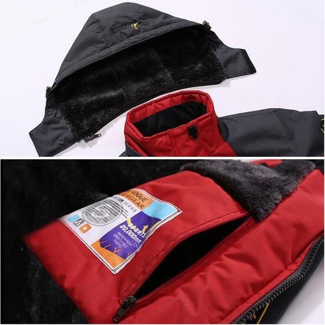 Winter Parka Men Windbreak Plus Velvet Thick Warm Windproof Fur Coats Male Military Hooded Anorak Jackets Men's Winter Jackets 3