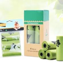 Toilet-Bags Garbage-Bag Dog-Poop-Bag Degradation Disposable Clean 8-Rolls/box Outdoor