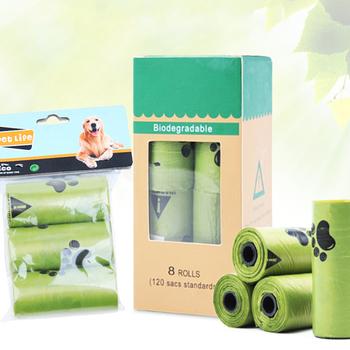 8 rolek pudełko torba na odchody psa degradacja jednorazowy worek na śmieci karton odebrać torby toaletowe kot worki na śmieci odkryty czysty worek na śmieci tanie i dobre opinie Pooper Scoopers i Torby disposable bag shovel
