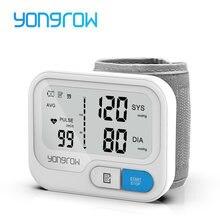Yongrow tonometre otomatik bilek dijital kan basıncı monitörü dijital lcd Sphgmomanometer kalp hızı darbe ölçer BP monitör