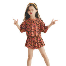 2020 Baby Meisjes Kleding Sets Zomer Mode Luipaard T-shirt & Shorts Kids Kleding Suits 3 4 5 6 7 8 9 10 Jaar Kinderen Outfits(China)