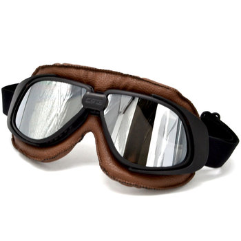 Motorcycle Glasses Motorbike Pilot Steampunk Vintage ATV Biker Scooter Cruiser Helmet Cycling Vintage Classic Goggles Glasses motorcycle atv riding scooter driving flying protective frame clear lens portable vintage helmet goggles glasses for 2009 buell xb12r