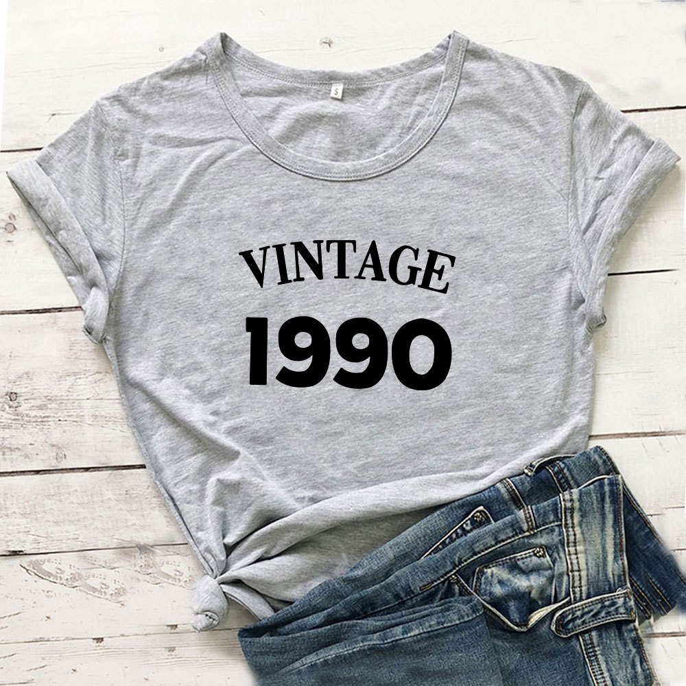 Vintage 1990 T Shirt Women Top Short Sleeve Cotton Tshirt Women T-shirt Harajuku Camiseta Mujer Casual Tee Shirt Femme