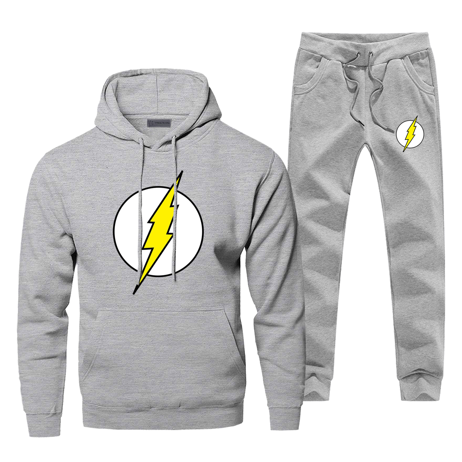 Hoodie Pants Set Men Flash Man Sweatshirt Male Superhero Hoodies Sweatshirts Mens Sets Two Piece Pant Pullover Super Hero Coat
