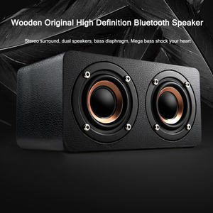 Image 2 - Bluetooth עץ בס רמקול 10W HiFi AUX קלט TF כרטיס השמעת אלחוטי סאב נייד בס טור