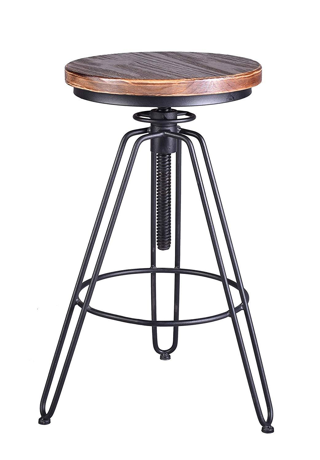 Bar Stools Wood Metal Stool