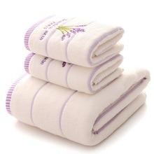 Juneiour 1 шт. вышивка Лавандовое полотенце хлопчатобумажные полотенца для лица банное полотенце для взрослых мочалки высокоабсорбирующие полотенца s