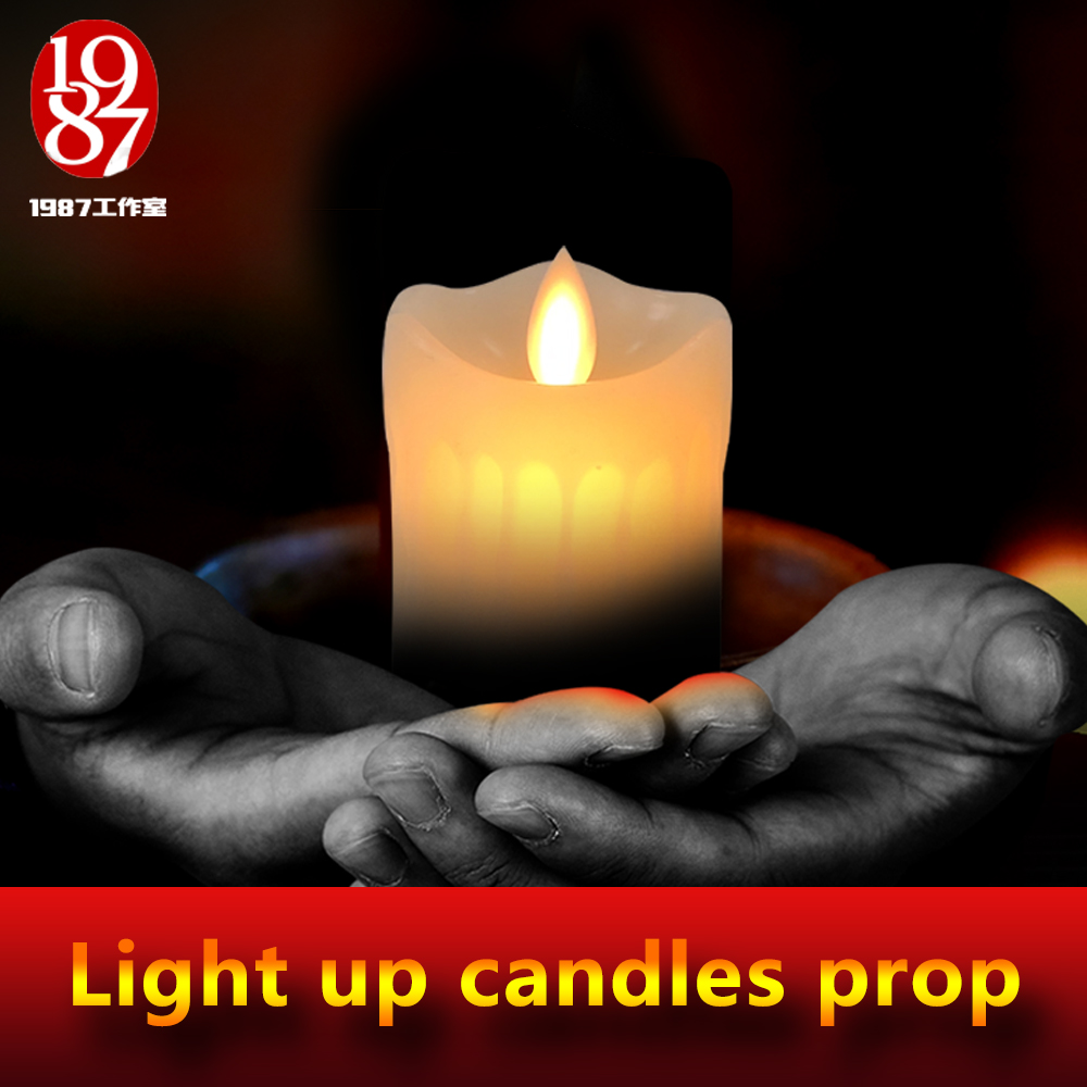 JXKJ1987 Escape Room Game The New Candles Prop Take A Wireless Candle To Light All Wired Candles In A Right Sequence To Unlock