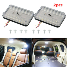 2 Pcs 12V 36 LED Boat RV Car Vehicle Interior Dome Roof Ceiling Reading Trunk Light Lamp LED Panel Light For Study Bed цена