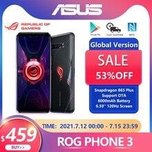 Game Telefoon Asus Rog Telefoon 3 Global Versie 8G 128G Sd 865Plus 6000Mah Batterij Nfc Android 10 144Hz 4G 5G ROG3 Koeler Smartphone