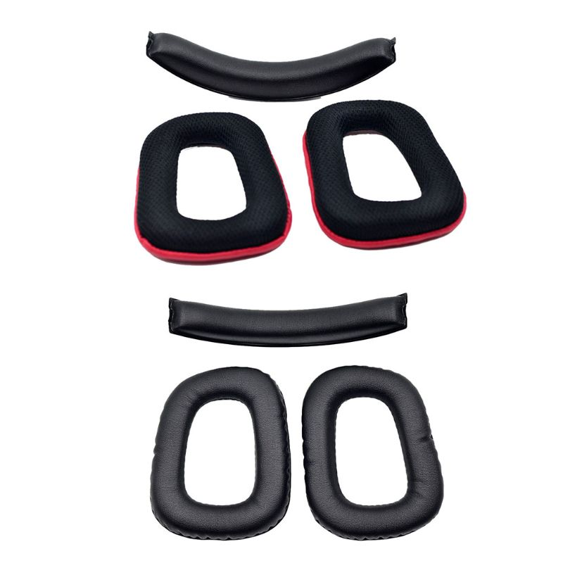 For Logitech G35 G930 G430 F450 Headset Replacement Headband Ear Pad Set Earpad Cushion Headphone Pad Ear Pads image