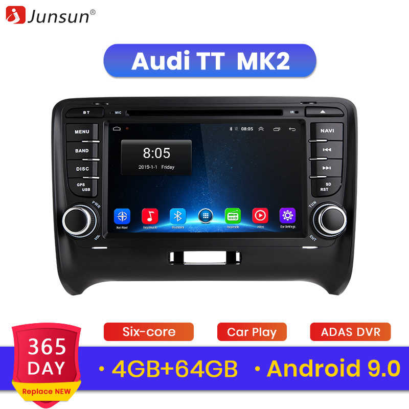 Junsun 4g + 64g 2 din carro dvd automotivo gps para audi tt mk2 8j 2006 2007 2008 2009 2010 2011 2012 carro multimídia player rádio