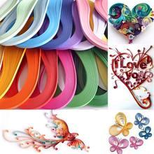Papier Origami de couleur unie, 120 rayures, 3mm de largeur, soulagement de la pression, décoration artisanale, bricolage