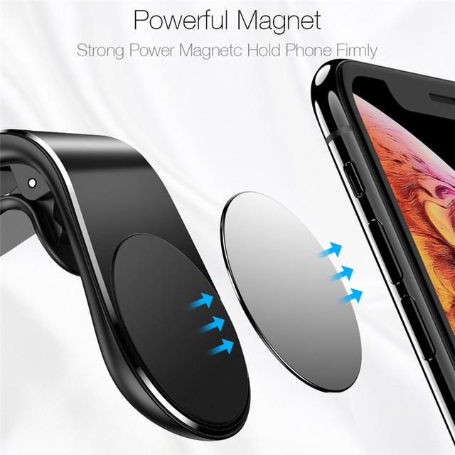 Lovebay 360 Metal Magnetic Car Phone Holder Automobiles & Motorcycles Unisex color: 1pc Metal Plate|Black