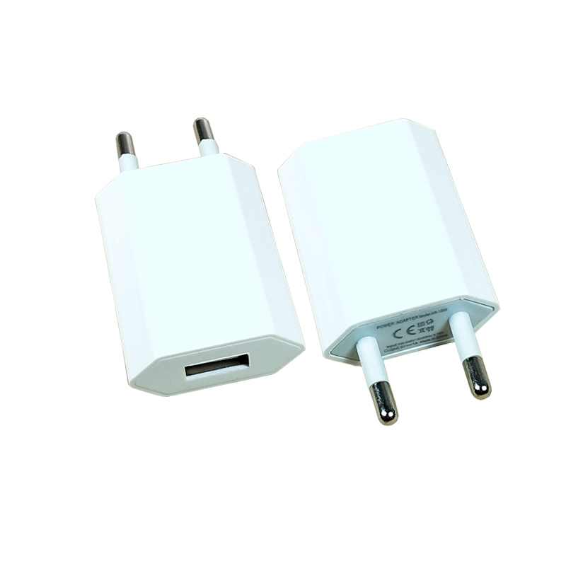 EU Plug socket USB Charger 5V 1A <font><b>iPhone</b></font> X 8 <font><b>7</b></font> iPad Wall Charger for Samsung S9 Xiaomi mi 8 Huawei Mobile Phone white FZ-P-01 image