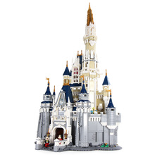 лучшая цена 30010 4080pcs Creator Cinderella Princess Castle City Building Block 71040 Bricks Toy