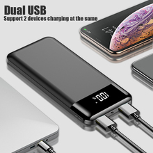 цена на Power Bank 10000mah External Portable Battery Powerbank Bank Power Batteri Charger Portabl Waterproof LED LCD for Xiaomi Iphone