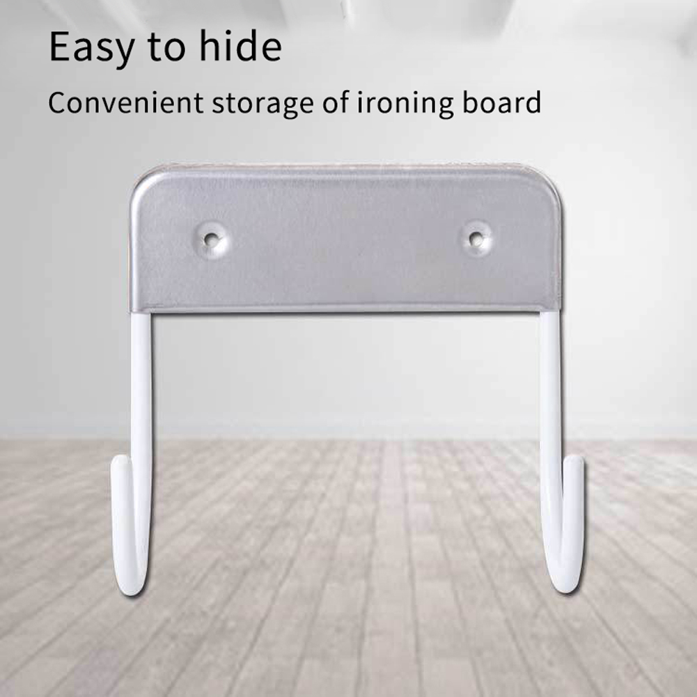 Closet Space Saving Stainless Steel Wall Mounted Home Hanging Practical Universal Durable Storage Holder Ironing Board Hook