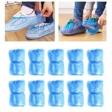 Shoe-Cover Waterproof Outdoor Carpet-Cleaning Disposable Plastic Blue Thick 100pcs Rainy-Day