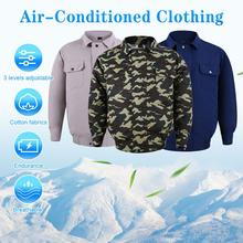 New Summer Outdoor Cooling Jacket with Fan Clothes Men Air Conditioning Clothing Sun-Protcetive Coat Fishing Cycling Clothes man cooling coat summer cold fan air conditioning clothes thick outdoor high temperature welding work clothes