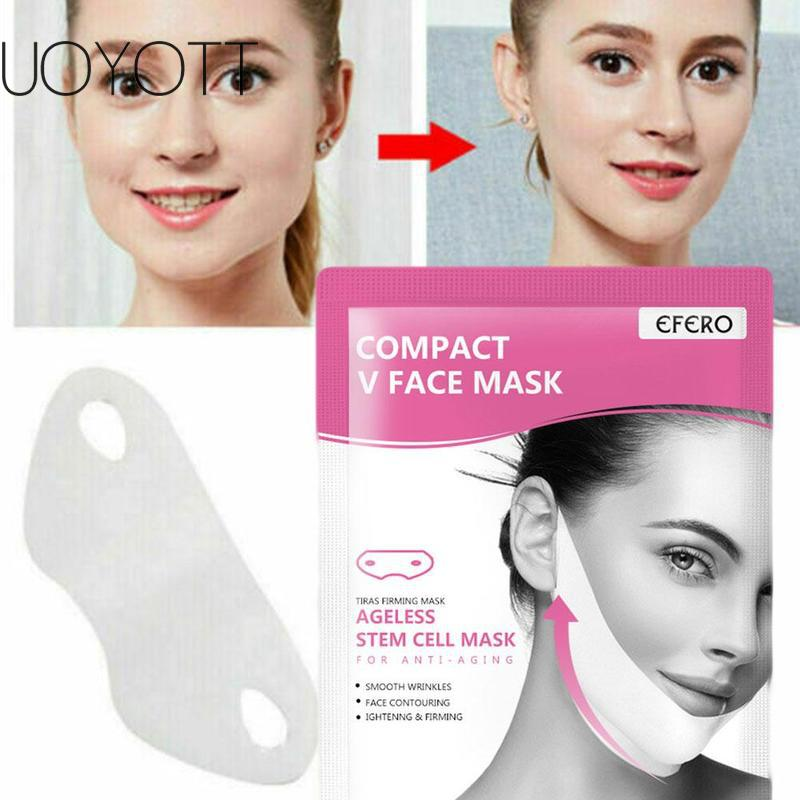 Women V Face Cheek Face Mask Lifting Slimming Smooth Wrinkles Cream Face Neck Lift Up Peel-off Masks Bandage Skin Care Drop ship
