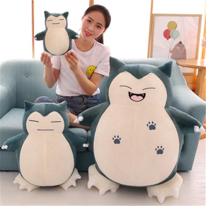 Hot Anime 20cm Cute Snorlax Pikachu Plush Toys Soft Stuffed Lovely Animal Dolls Baby Pillow For Kids Birthday Christmas Gift
