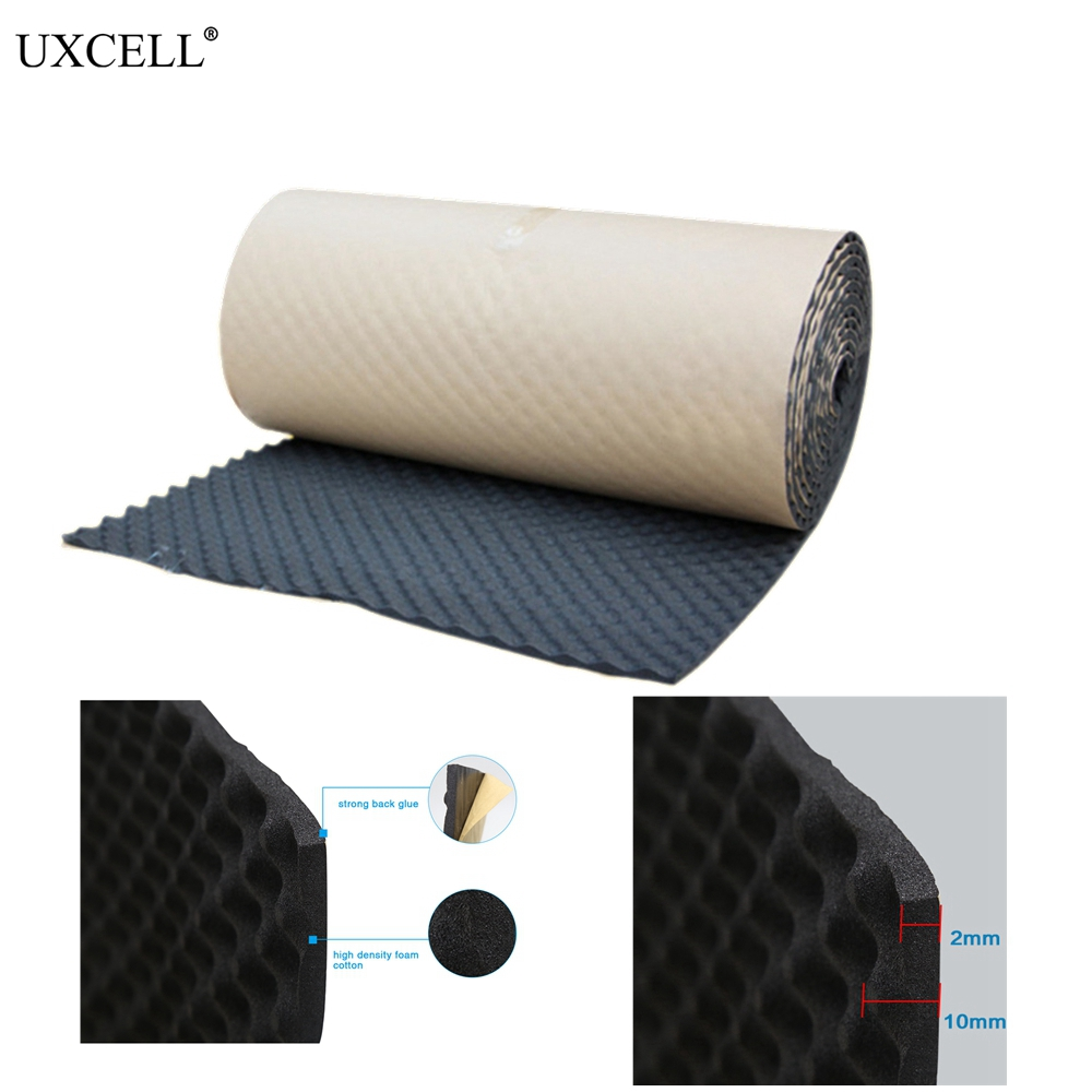 UXCELL 50 100 200 300 500CM Cotton Blends Interior Studio Sound Acoustic Absorption Car Soundproof Foam Deadener Insulation Mat