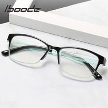 Iboode-gafas de lectura ultraligeras TR90 para hombre y mujer, lentes de lectura flexibles y flexibles, con bloqueo de luz azul, Marco presbicia