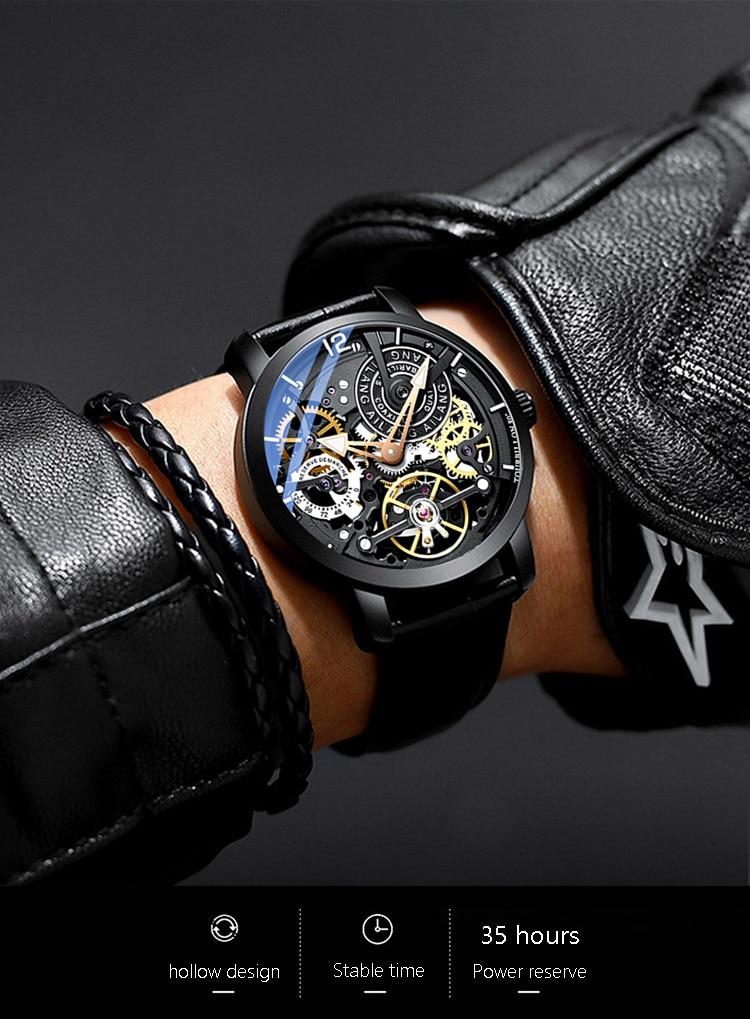 H3e4e204babb2443bbc500c6d5374c4970 AILANG Original design watch automatic tourbillon wrist watches men montre homme mechanical Leather pilot diver Skeleton 2019
