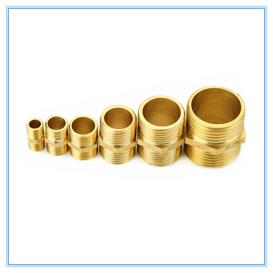 Brass Pipe Fitting Hex Nipple M/M 1/8