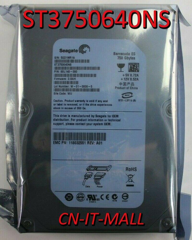 Жесткий диск Seagate BarraCuda ES ST3750640NS, 750 Гб, 7200 об/мин, 16 Мб кэш-памяти, SATA 3,0 ГБ/сек., 3,5 дюйма
