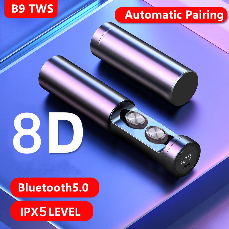 TWS Bluetooth Earphone 5.0 Wireless 8DHIFI Sport Earsets MIC Earbuds Gaming Music Headset With Charging Case For Iphone/Android