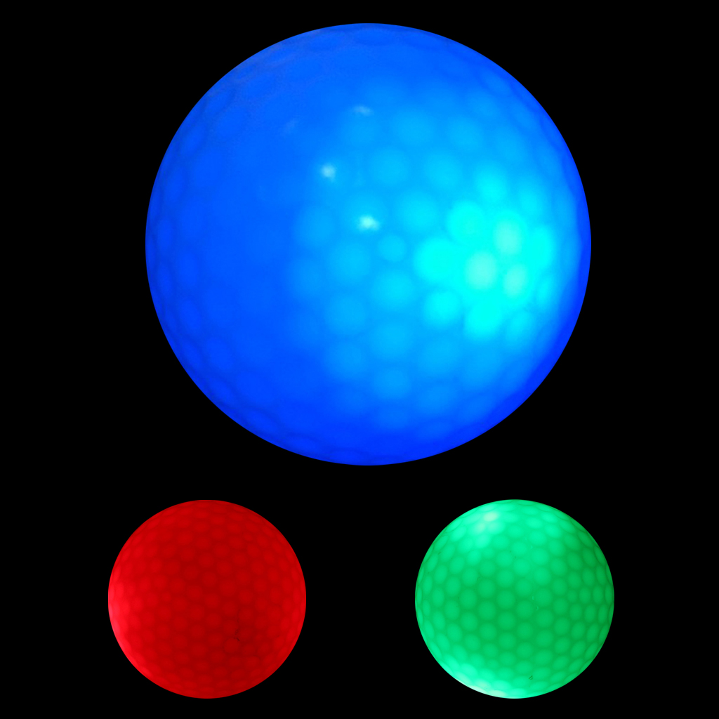 3Pcs Glow In Dark LED Light Up Golf Ball Official Size Tournament Ball