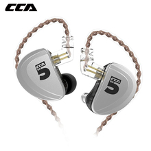 CCA A10 Earphones 5BA Balanced Armature Drive Earphones InEar Earbuds HIFI Bass