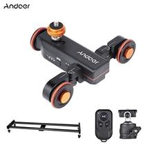 Andoer Kamera Video Dolly Slider 3-rad Auto Dolly Auto 3 Geschwindigkeit Einstellbar + 60cm Schiene Kamera slider Wirelss Fernbedienung