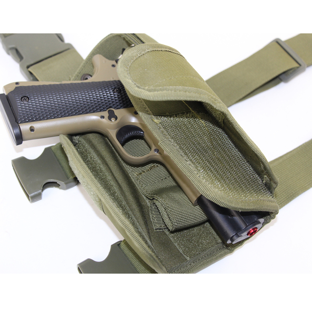 Drop Left/Right Leg Gun Holster gun bag for GLOCK 17/M9/P226/CZ 75 Revolver Leg Adjustable Airsoft Pistol Gun Case For Hunting 5