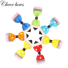 Back To School Hair Accessories for Girls Pencil Ribbon Glitter Hairgrips Children Kids School Hair Bows Handmade Headwear цены онлайн