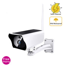 Outdoor Security Solar CCTV IP Camera Surveillance s with Wifi  Wireless 1080P HD  Battery Solaire Kamera