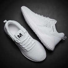QZHSMY Summer New Shoes Men Breathable Hollow Sneakers Man Casual Shoe