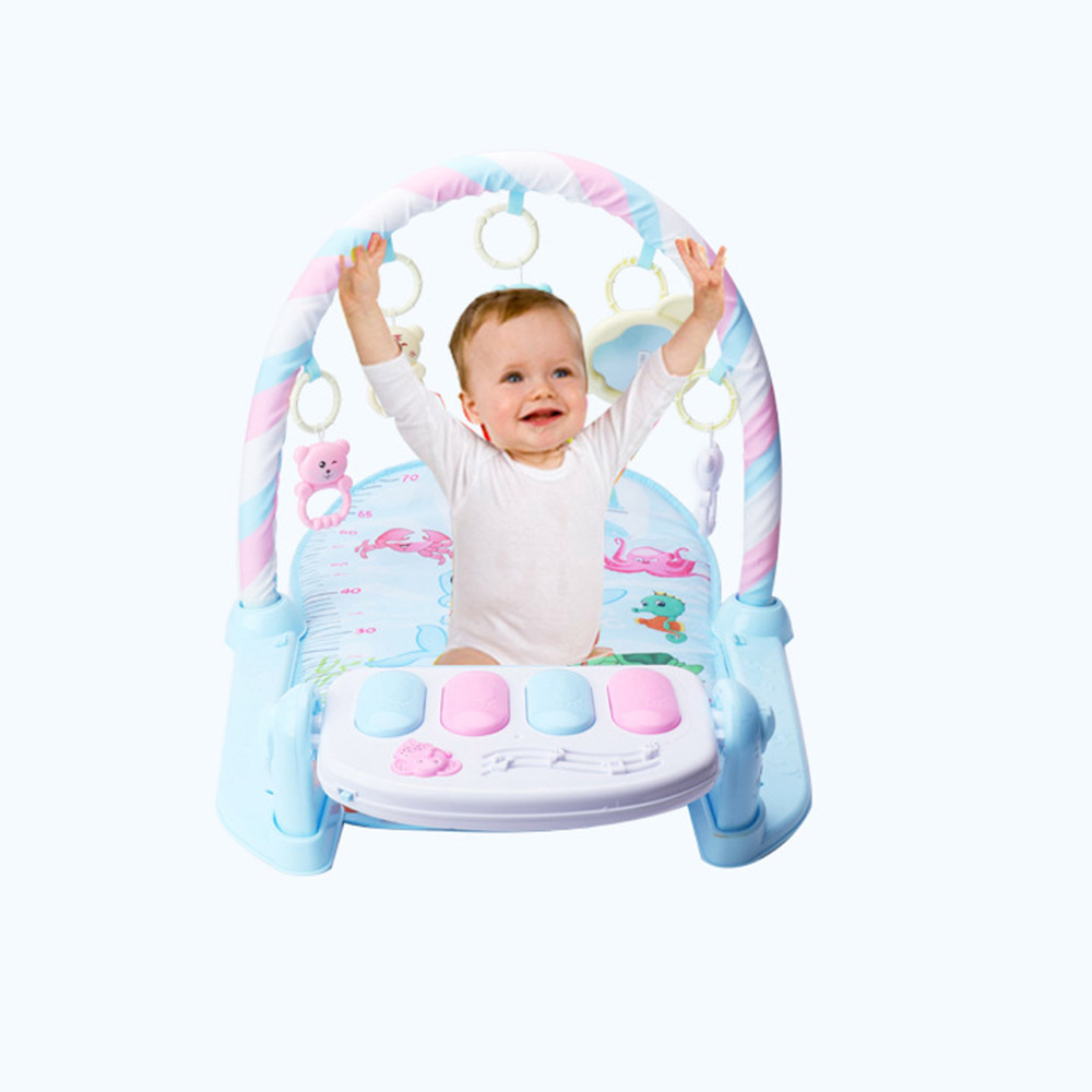 Rocking Chair Newborn Baby Fitness Bodybuilding Frame Pedal Piano Music Carpet Rocking Chair Activity Kick Play Education Toy