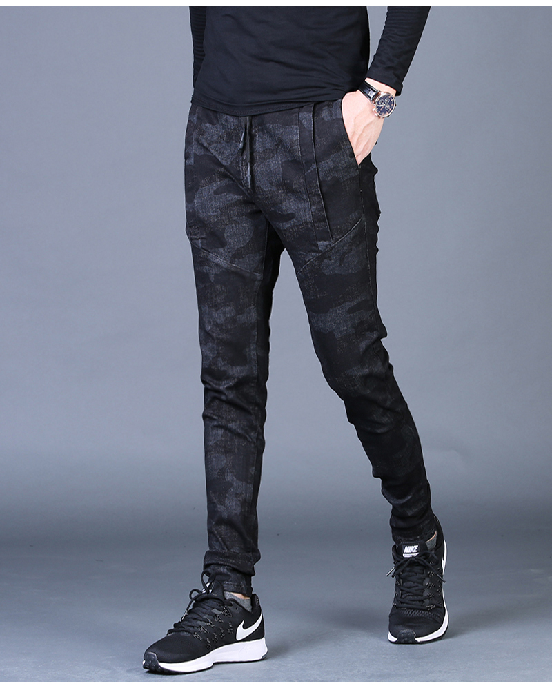 Free shipping new fashion men's male casual Original camouflage jeans men plus velvet autumn stitching pants Slim Korean C3129 81