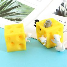 Mouse and Cheese Toy Sloth Hide and Seek Stress Relief Toy 2 Squish GXMB