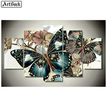 Full square 5d diy diamond painting beautiful butterfly sticker mosaic crafts embroidery home decoration