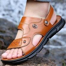 2020 Men Casual Leather Sandals Summer Classic Men Shoes Slippers Soft Sandals Men Roman Sandals Comfortable Walking Footwear 2020 men casual leather sandals summer classic men shoes slippers soft sandals men roman sandals comfortable walking footwear